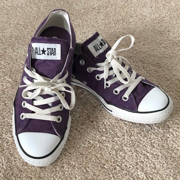 3cb7552f21c7 Converse Shoes - Purple Converse All Stars Women s Size 8